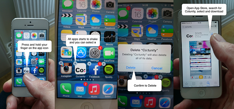 Important upgrade - remove old and download new iPhone app | Co:tunity